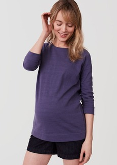 Maternity Textured Sweatshirt