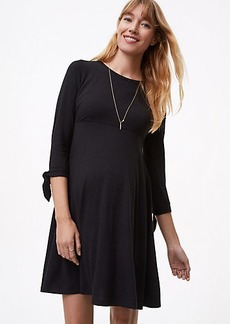 Maternity Tie Cuff Flare Dress