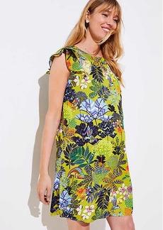 LOFT Maternity Tropicalia Flutter Shift Dress