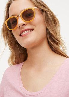 LOFT Matte Round Sunglasses