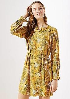 LOFT Meadow Ruffle Henley Dress