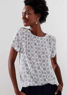 LOFT Medallion Button Shoulder Clean Tee