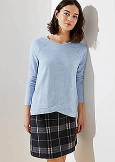 LOFT Melange Crossover Sweatshirt