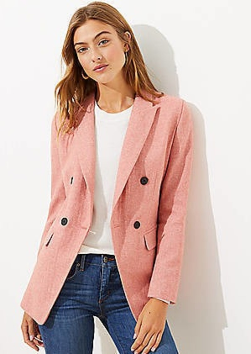 LOFT Melange Double Breasted Blazer
