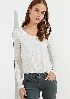LOFT Melange Long Sleeve Shirttail Tee