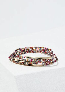 LOFT Metal Bar Beaded Stretch Bracelet Set