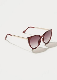 LOFT Metallic Arm Cateye Sunglasses