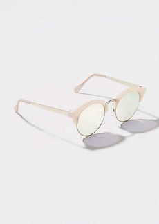 LOFT Metallic Arm Retro Sunglasses