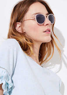 LOFT Metallic Arm Round Sunglasses