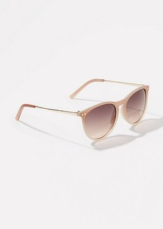 LOFT Metallic Arm Round Sunglasses