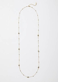 LOFT Metallic Beaded Gem Illusion Necklace