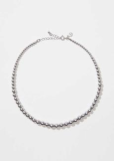 LOFT Metallic Beaded Necklace