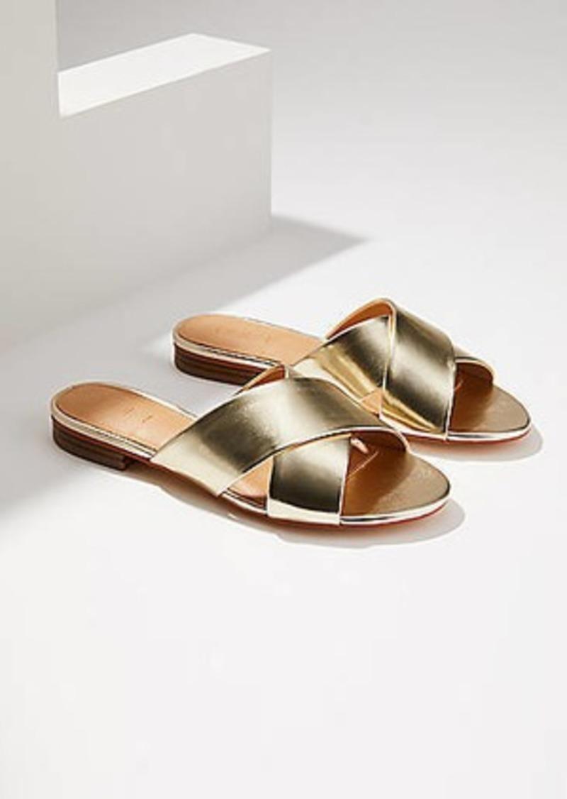016ebd94852 LOFT Metallic Criss Cross Slide Sandals Now  29.70