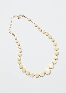 LOFT Metallic Disc Statement Necklace