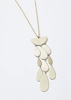 LOFT Metallic Drop Pendant Necklace