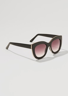 Metallic Edged Cateye Sunglasses
