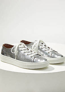 LOFT Metallic Eyelet Lace Up Sneakers