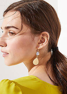 LOFT Metallic Gem Drop Earrings