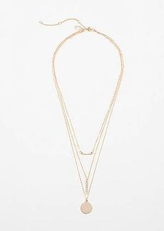LOFT Metallic Layered Necklace