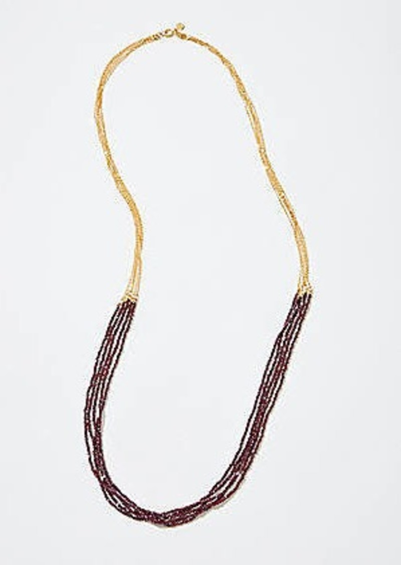 LOFT Metallic Multistrand Necklace