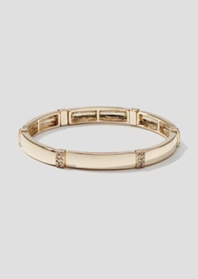 LOFT Metallic Pave Stretch Bracelet