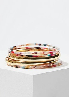 LOFT Metallic Resin Bangle Set