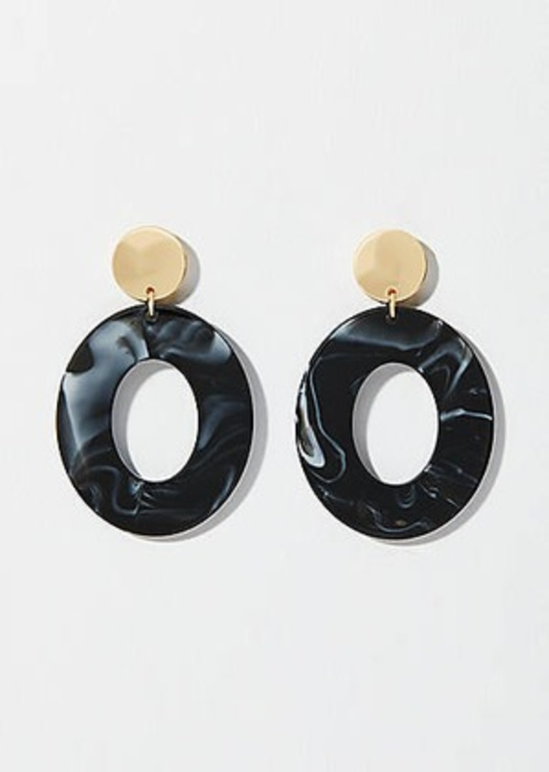 LOFT Metallic Resin Drop Earrings