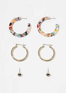 LOFT Metallic Resin Earring Set
