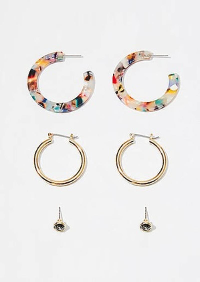 LOFT Metallic Resin Earring Set
