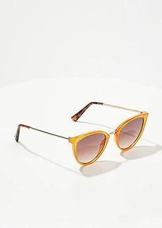 LOFT Metallic Trim Cateye Sunglasses