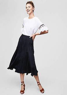 LOFT Midi Flare Skirt