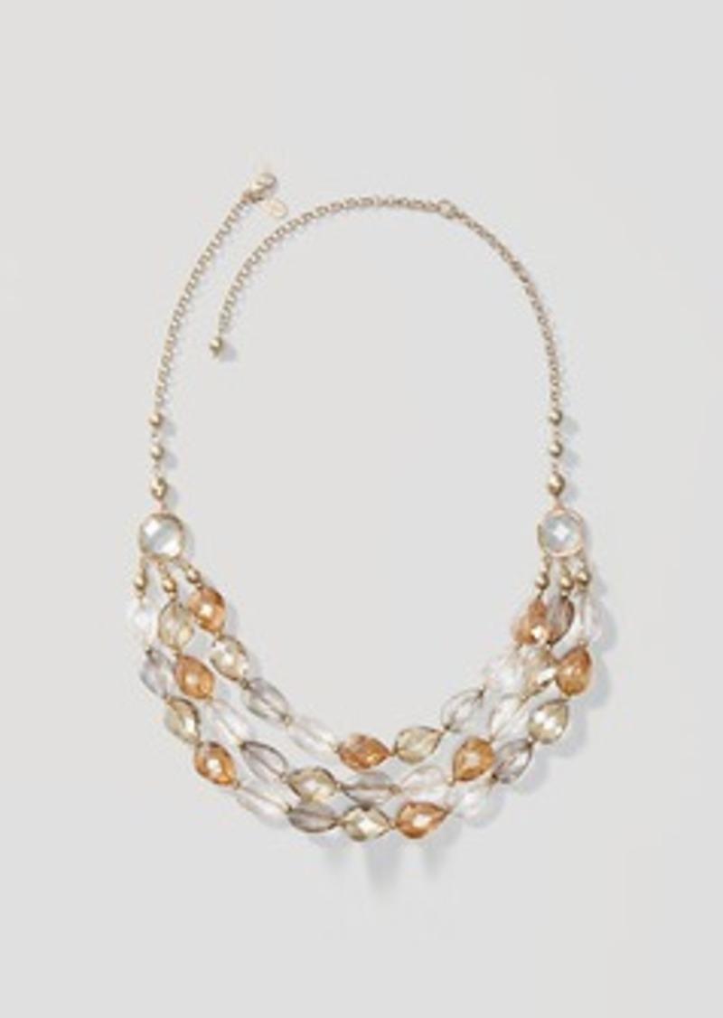 LOFT Midnight Shine Multistrand Necklace
