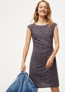 LOFT Mini Floral Side Shirred Dress