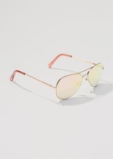 LOFT Mirrored Aviator Sunglasses