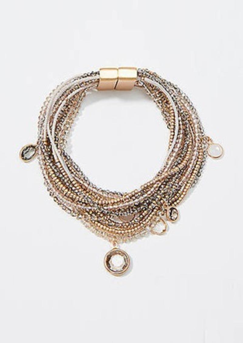 LOFT Mixed Bead Multistrand Bracelet