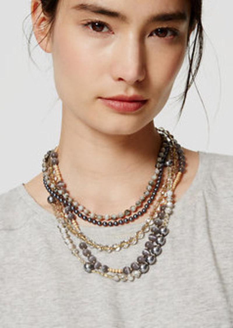 LOFT Mixed Bead Multistrand Necklace