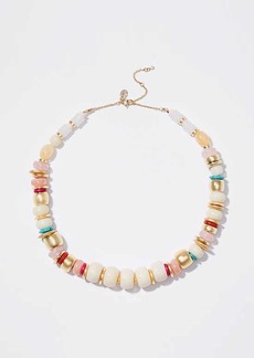 LOFT Mixed Bead Statement Necklace