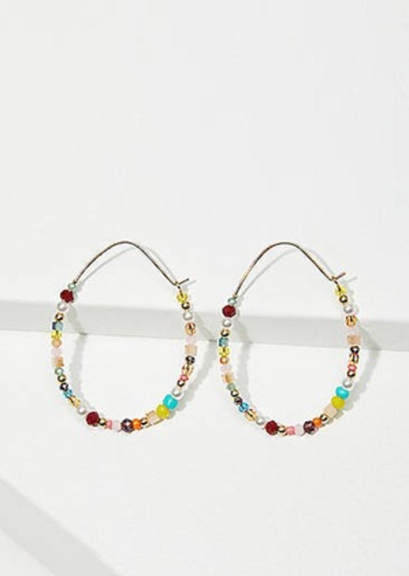 LOFT Mixed Beaded Hoop Earrings
