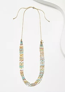 LOFT Mixed Beaded Multistrand Necklace