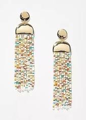 LOFT Mixed Beaded Tassel Earrings