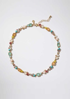 LOFT Mixed Crystal Stone Necklace