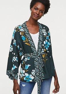 LOFT Mixed Floral Kimono Blouse