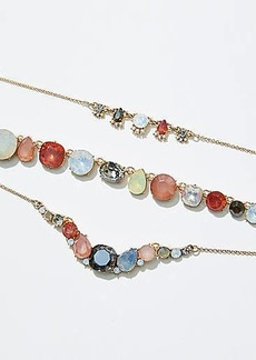 LOFT Mixed Gem Layered Necklace