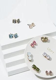 LOFT Mixed Gem Stud Earring Set