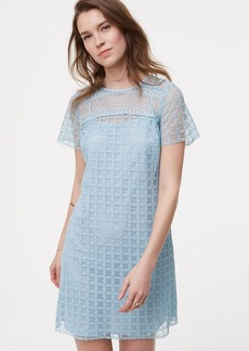LOFT Mixed Lace Shift Dress