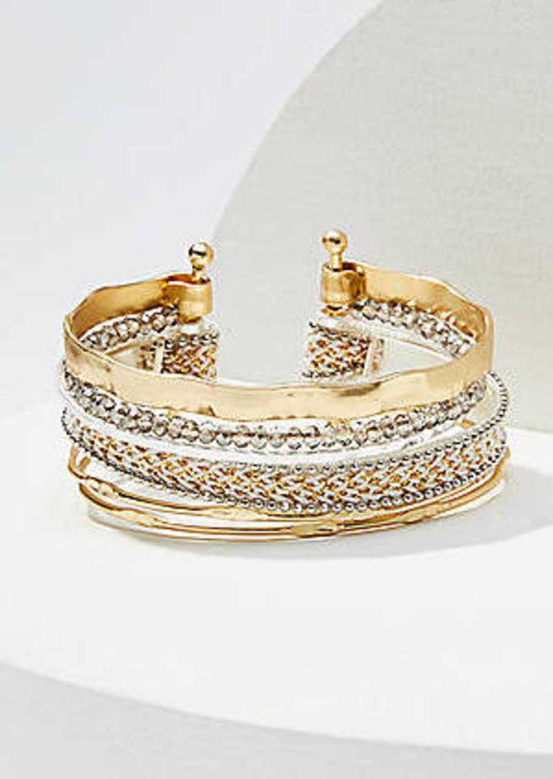 LOFT Mixed Media Cuff Bracelet