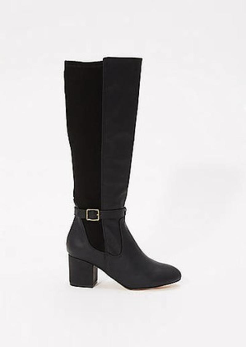 LOFT Mixed Media Knee Boots