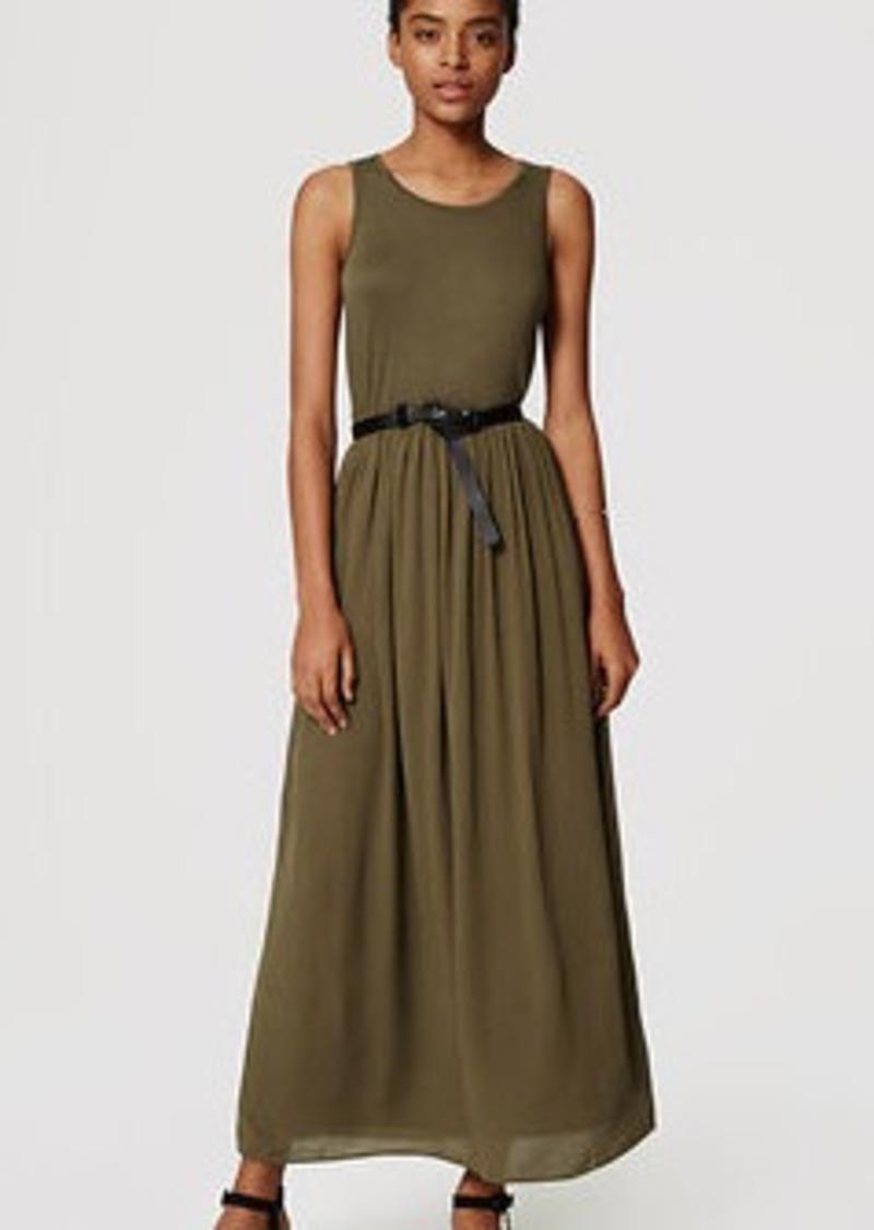 LOFT Mixed Media Maxi Dress