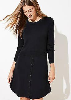 LOFT Mixed Media Sweater Dress