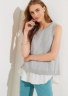 LOFT Mixed Media Sweater Tank